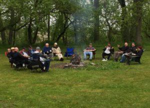 Men At Bonfire